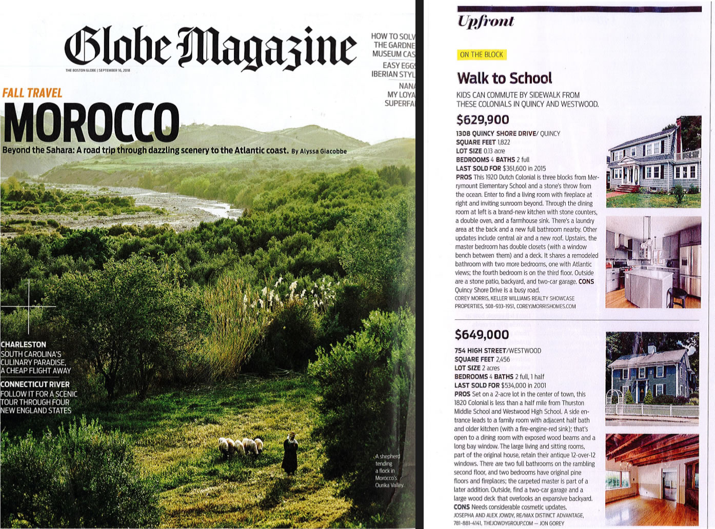 Exclusive Listing Featured In Globe Magazine