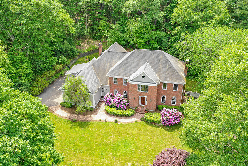 Drone Aerial Photograph of 35A Walpole Street in Dover MA