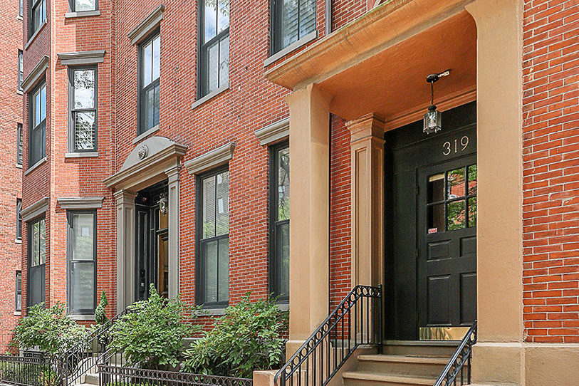 Front exterior image of 319 Dartmouth Street in Boston MA