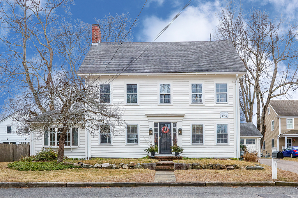 Front exterior photograph of 83 South Street in Medfield MA