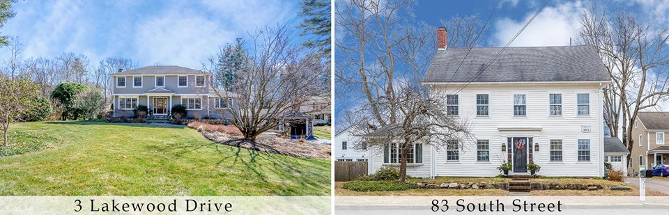 Photographs of two homes in Medfield