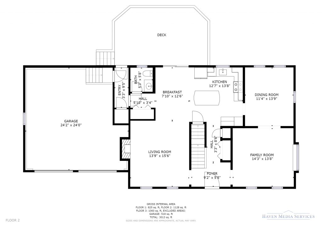 First Floor Plan of 22 North Meadows Road, Medfield MA