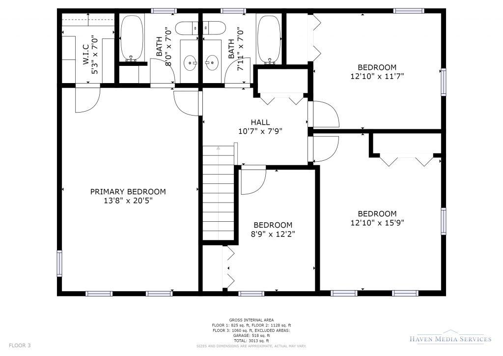 Second Floor Plan of 22 North Meadows Road, Medfield MA